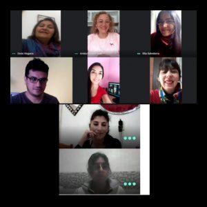 Primera reunión virtual de los Integrantes de la Coordinación General de Entidades Profesionales