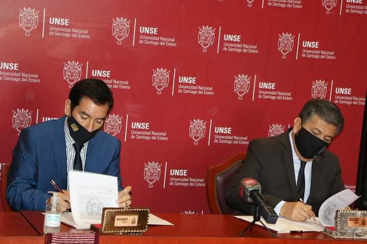 Firma de Convenio Marco  entre el Colegio de Corredores Públicos Inmobiliarios y la UNSE